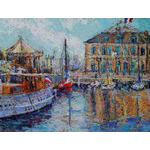 Boats on the quay, Honfleur