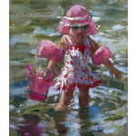 Corry Kooy / Little girl in the river